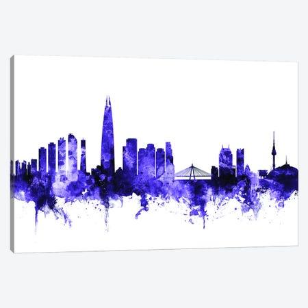 Seoul, South Korea Skyline Canvas Print #MTO698} by Michael Tompsett Canvas Artwork