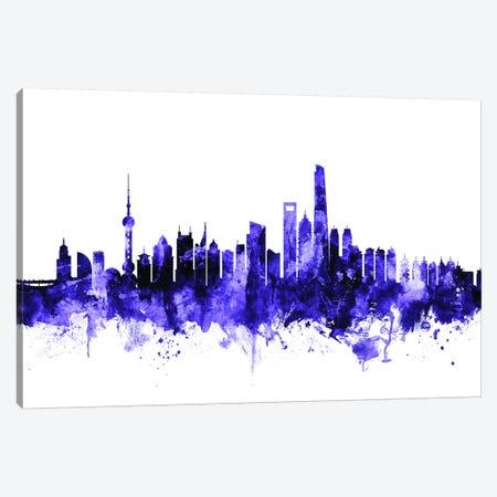 Shanghai, China Skyline 3-Piece Canvas #MTO699} by Michael Tompsett Canvas Artwork
