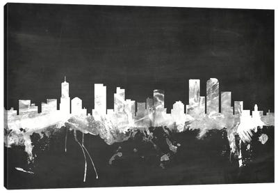 Blackboard Skyline Series: Denver, Colorado, USA Canvas Art Print