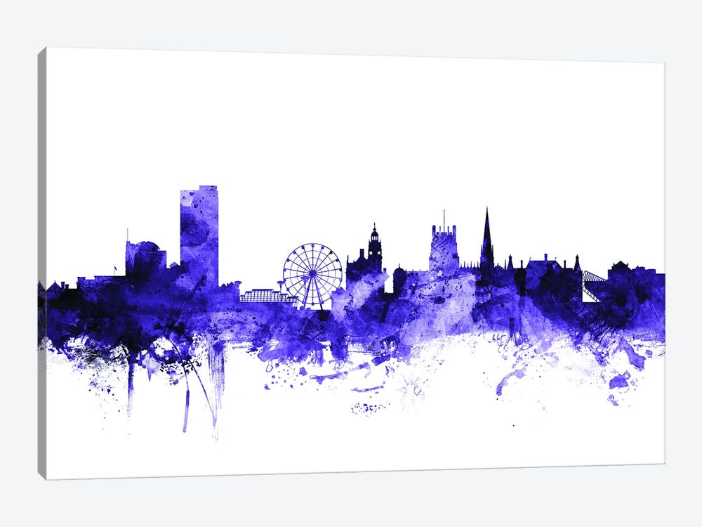 Sheffield, England Skyline by Michael Tompsett 1-piece Canvas Art