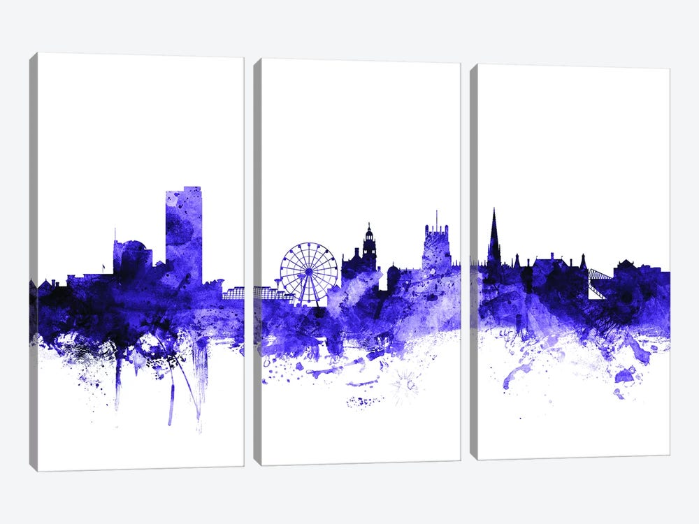 Sheffield, England Skyline by Michael Tompsett 3-piece Canvas Wall Art