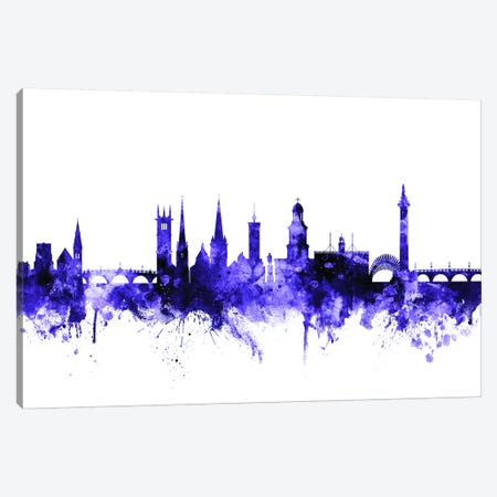 Shrewsbury, England Skyline Canvas Print #MTO701} by Michael Tompsett Canvas Artwork