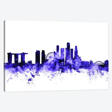 Singapore Skyline Canvas Print #MTO702} by Michael Tompsett Canvas Art