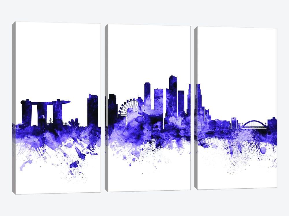Singapore Skyline by Michael Tompsett 3-piece Canvas Artwork