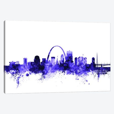 St. Louis, Missouri Skyline Canvas Print #MTO705} by Michael Tompsett Canvas Art Print
