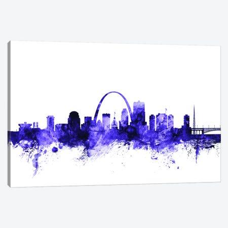 St. Louis, Missouri Skyline Canvas Print #MTO705} by Michael Tompsett Canvas Art Print