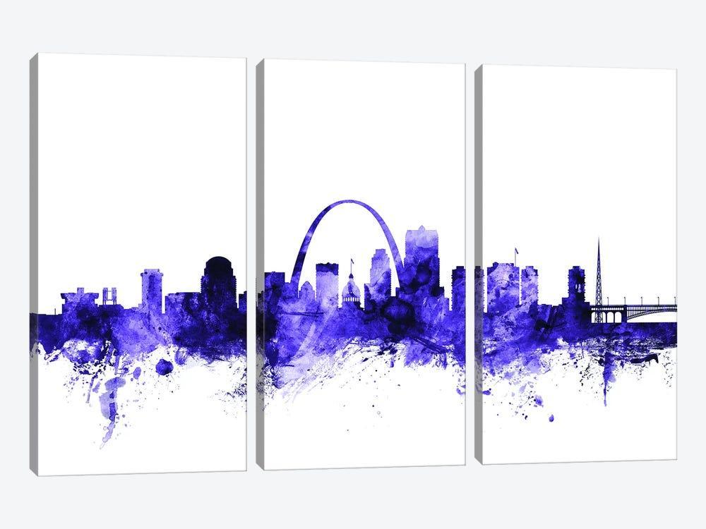 St. Louis, Missouri Skyline by Michael Tompsett 3-piece Canvas Print