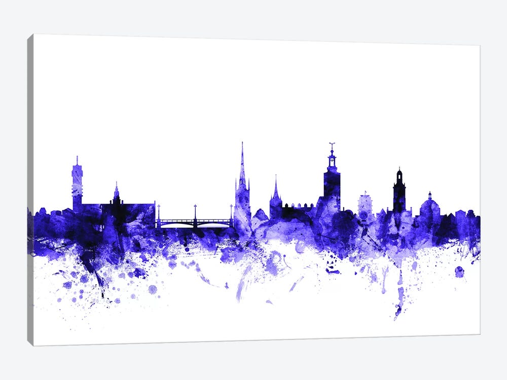 Stockholm, Sweden Skyline by Michael Tompsett 1-piece Canvas Art