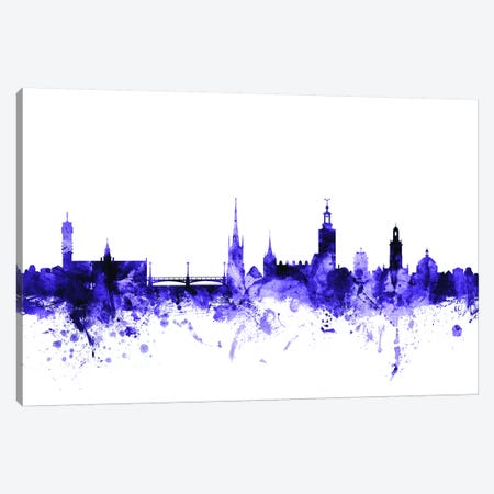 Stockholm, Sweden Skyline 3-Piece Canvas #MTO706} by Michael Tompsett Canvas Art Print