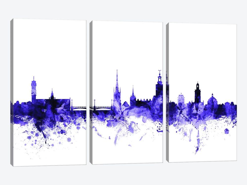 Stockholm, Sweden Skyline by Michael Tompsett 3-piece Canvas Wall Art