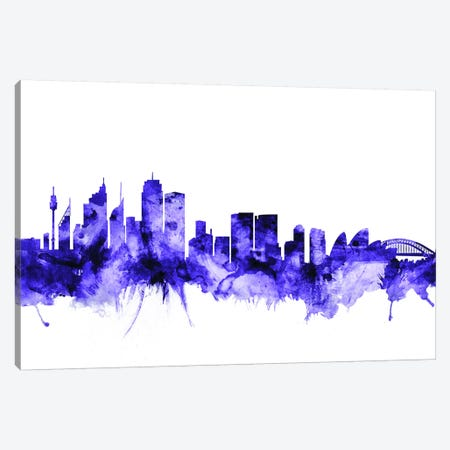 Sydney, Australia Skyline Canvas Print #MTO709} by Michael Tompsett Canvas Artwork