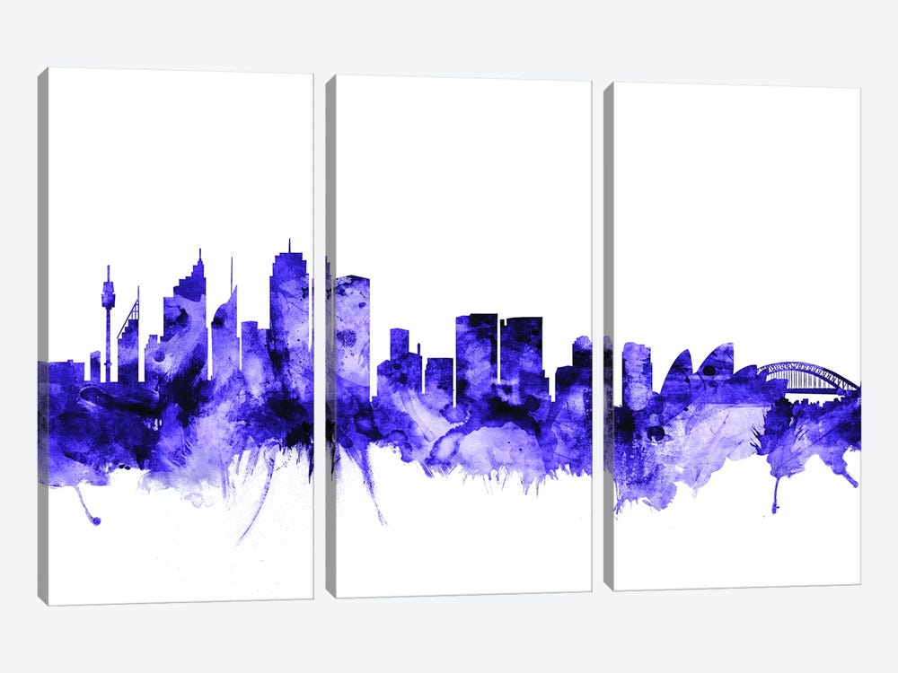 Sydney, Australia Skyline by Michael Tompsett 3-piece Canvas Art Print