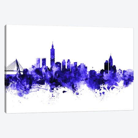 Taipei, Taiwan Skyline Canvas Print #MTO710} by Michael Tompsett Art Print