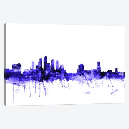Tampa, Florida Skyline Canvas Print #MTO711} by Michael Tompsett Canvas Art Print