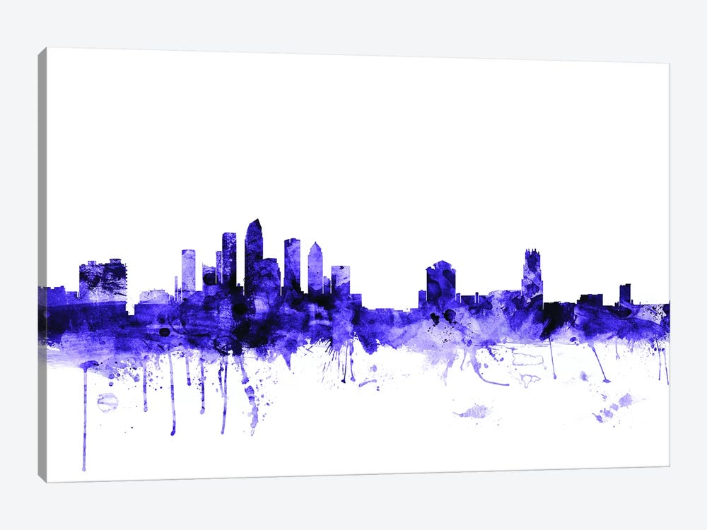 Tampa, Florida Skyline by Michael Tompsett 1-piece Canvas Artwork