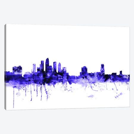 Tampa, Florida Skyline Canvas Print #MTO711} by Michael Tompsett Canvas Art Print