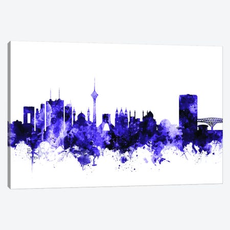 Tehran, Iran Skyline Canvas Print #MTO712} by Michael Tompsett Art Print