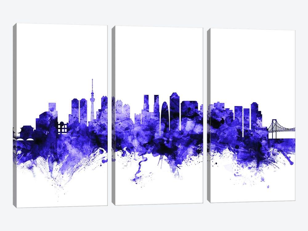 Tokyo, Japan Skyline by Michael Tompsett 3-piece Canvas Art Print