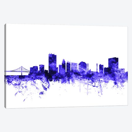 Toledo, Ohio Skyline Canvas Print #MTO715} by Michael Tompsett Canvas Wall Art