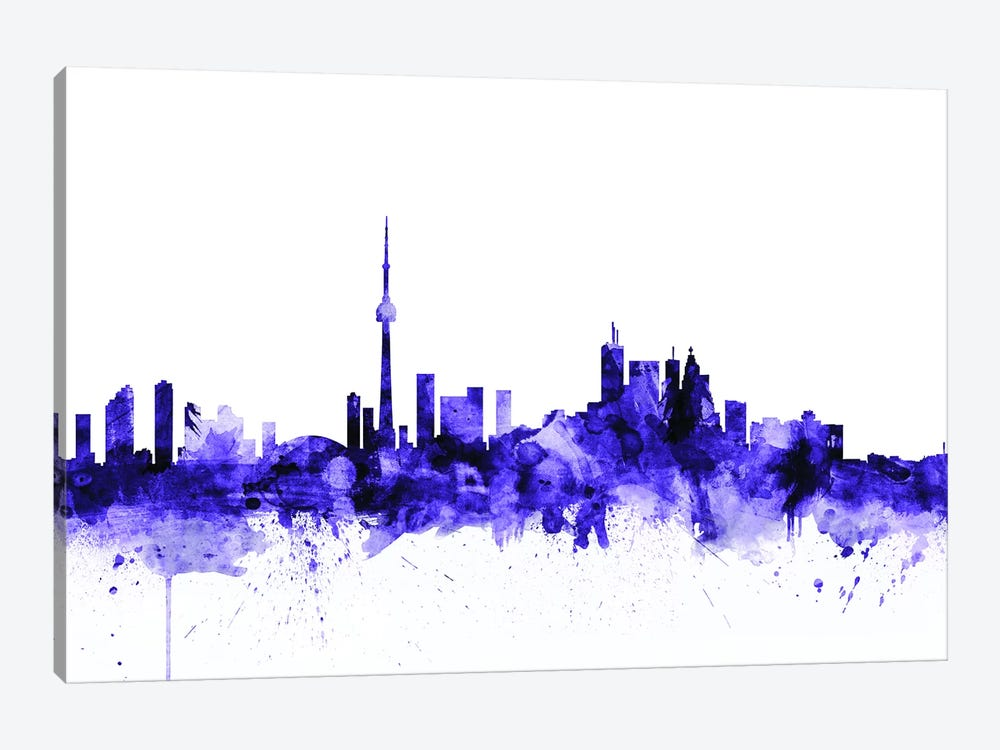 Toronto, Canada Skyline by Michael Tompsett 1-piece Art Print