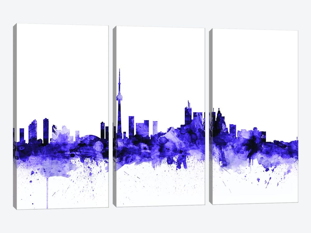 Toronto, Canada Skyline by Michael Tompsett 3-piece Canvas Print
