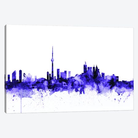 Toronto, Canada Skyline Canvas Print #MTO716} by Michael Tompsett Canvas Art