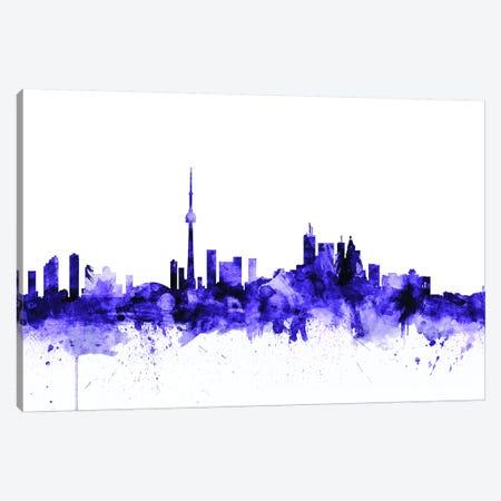 Toronto, Canada Skyline Canvas Print #MTO716} by Michael Tompsett Canvas Art