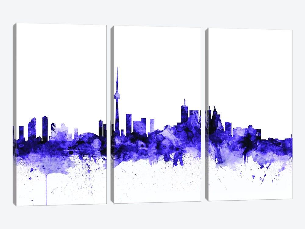 Toronto, Canada Skyline by Michael Tompsett 3-piece Canvas Print