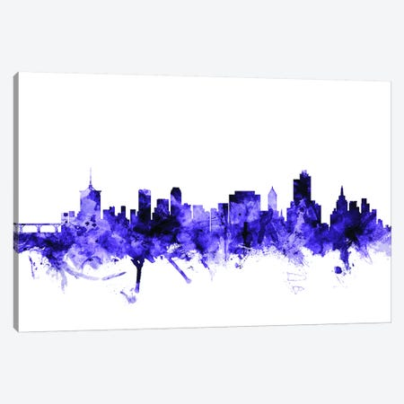 Tulsa, Oklahoma Skyline Canvas Print #MTO718} by Michael Tompsett Canvas Art Print