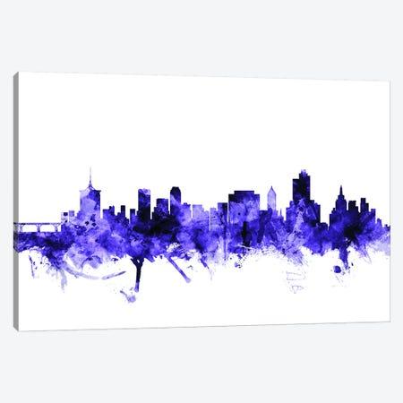 Tulsa, Oklahoma Skyline Canvas Print #MTO718} by Michael Tompsett Canvas Art Print