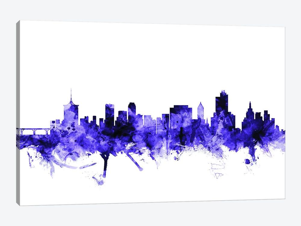 Tulsa, Oklahoma Skyline by Michael Tompsett 1-piece Canvas Art Print