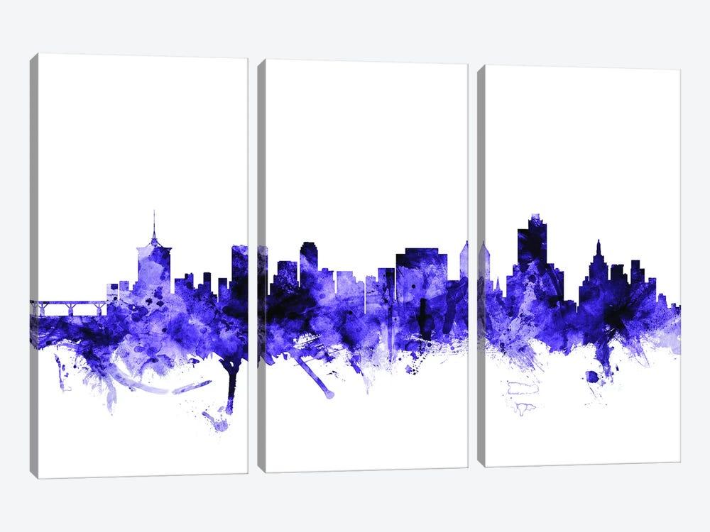 Tulsa, Oklahoma Skyline by Michael Tompsett 3-piece Art Print
