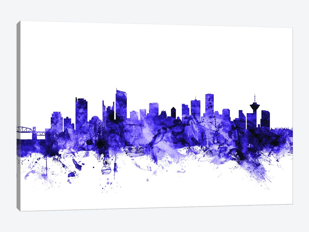 Vancouver, Canada Skyline by Michael Tompsett 1-piece Canvas Wall Art