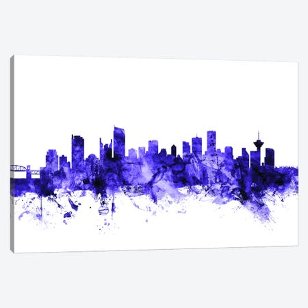 Vancouver, Canada Skyline Canvas Print #MTO719} by Michael Tompsett Art Print