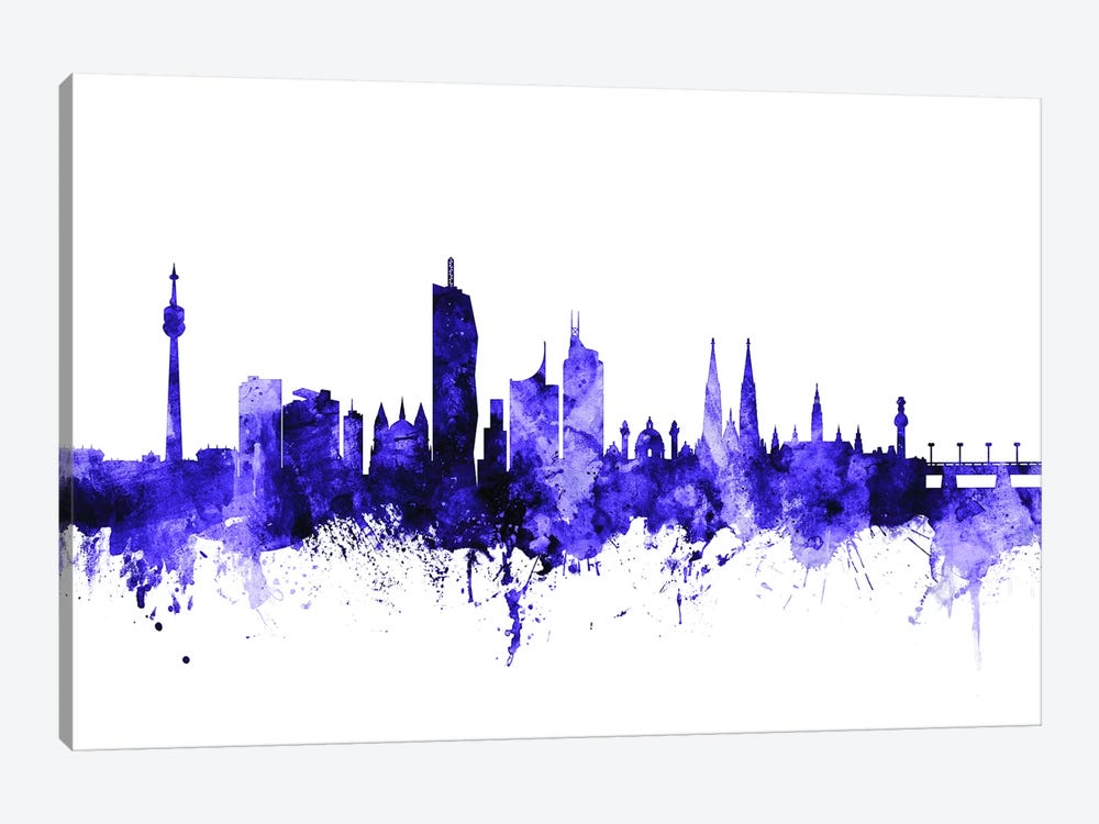 Vienna, Austria Skyline by Michael Tompsett 1-piece Canvas Art