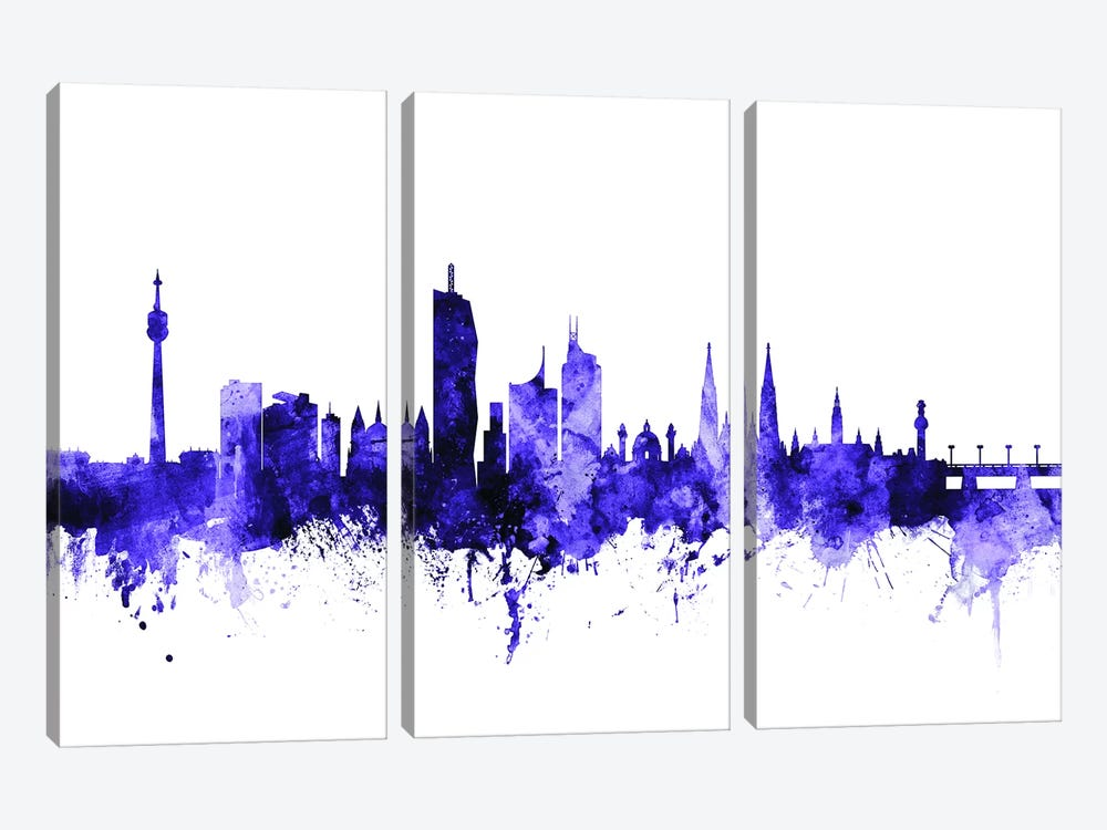 Vienna, Austria Skyline by Michael Tompsett 3-piece Canvas Art