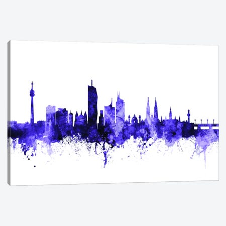 Vienna, Austria Skyline Canvas Print #MTO722} by Michael Tompsett Canvas Artwork