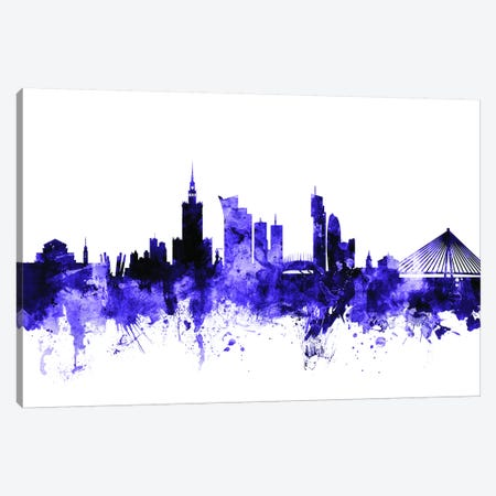 Warsaw, Poland Skyline Canvas Print #MTO724} by Michael Tompsett Canvas Art Print