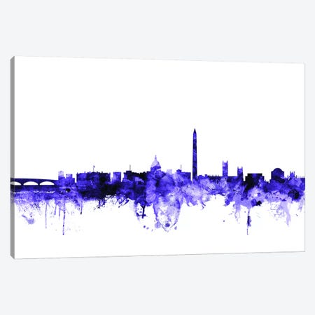 Washington, DC Skyline Canvas Print #MTO725} by Michael Tompsett Canvas Art Print