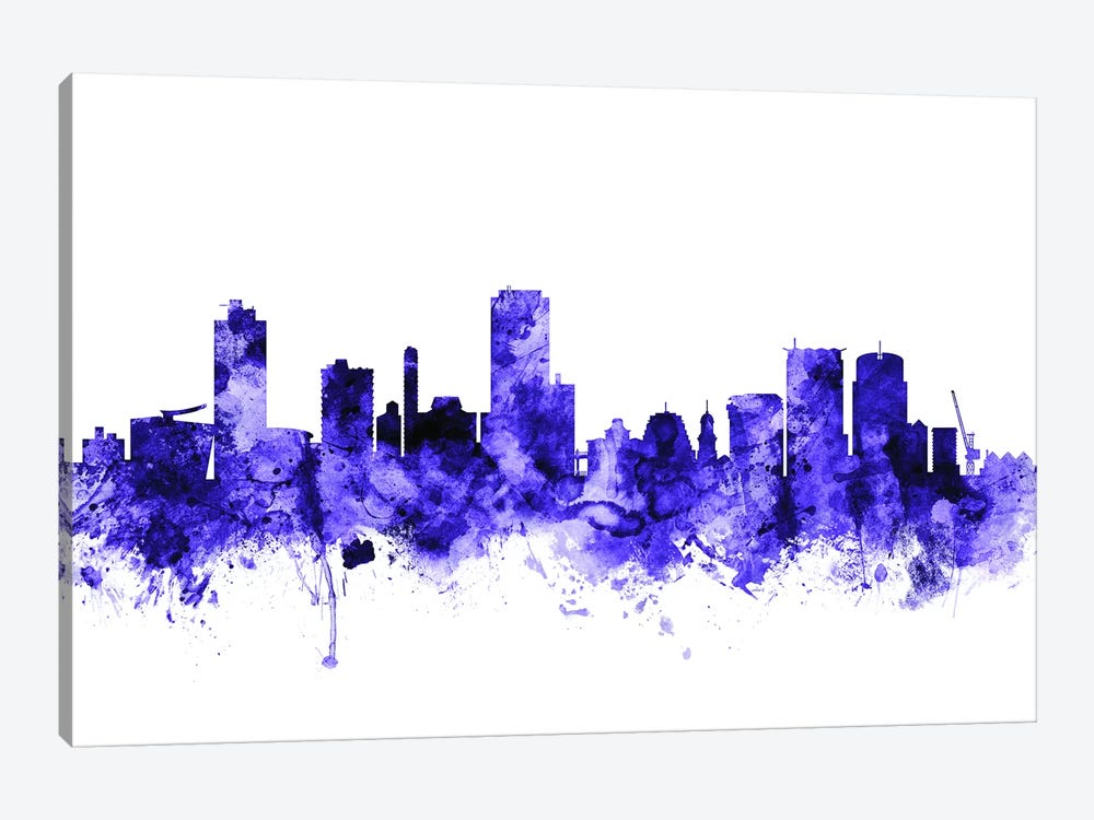 Wellington, New Zealand Skyline by Michael Tompsett 1-piece Canvas Wall Art