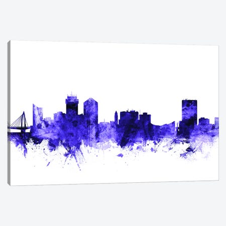 Wichita, Kansas Skyline 3-Piece Canvas #MTO727} by Michael Tompsett Art Print