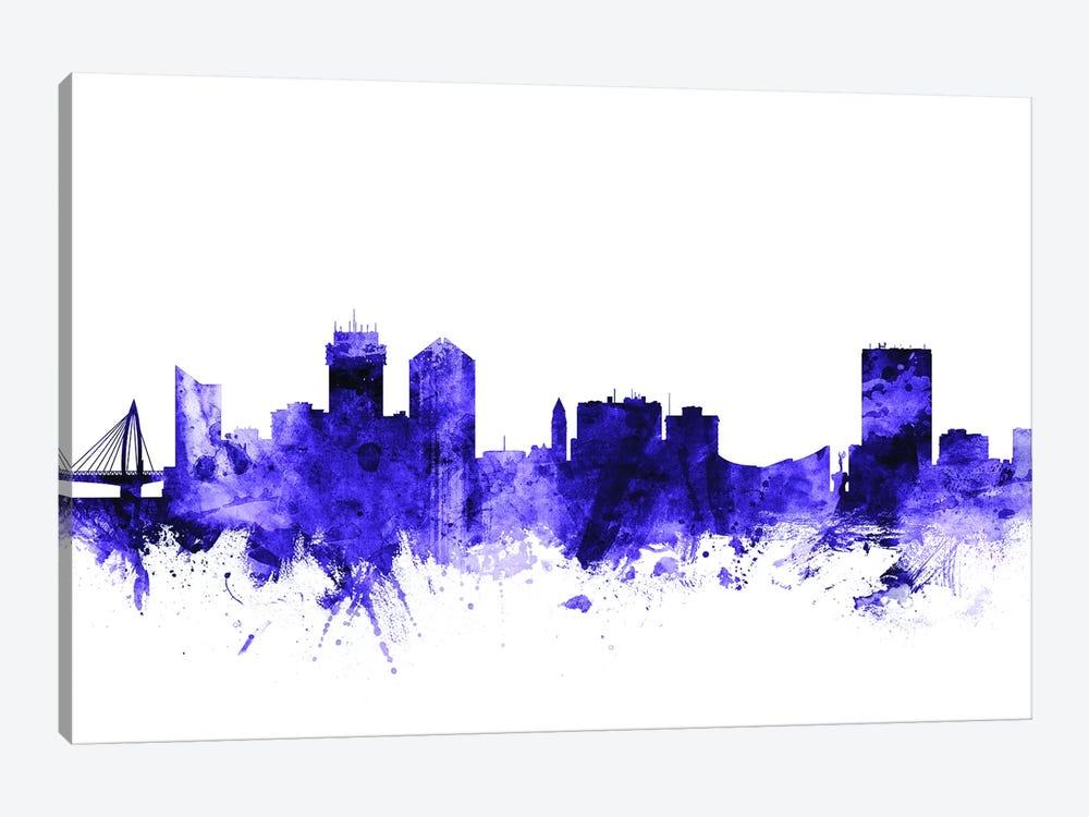 Wichita, Kansas Skyline by Michael Tompsett 1-piece Canvas Print