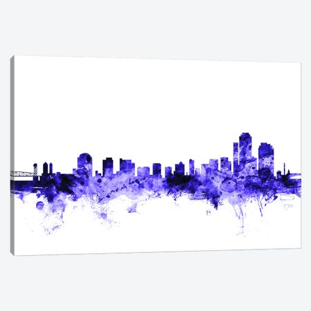 Wilmington, Delaware Skyline Canvas Print #MTO728} by Michael Tompsett Canvas Wall Art