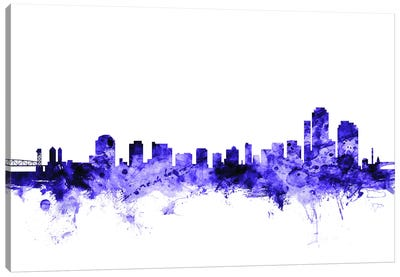 Wilmington, Delaware Skyline Canvas Art Print
