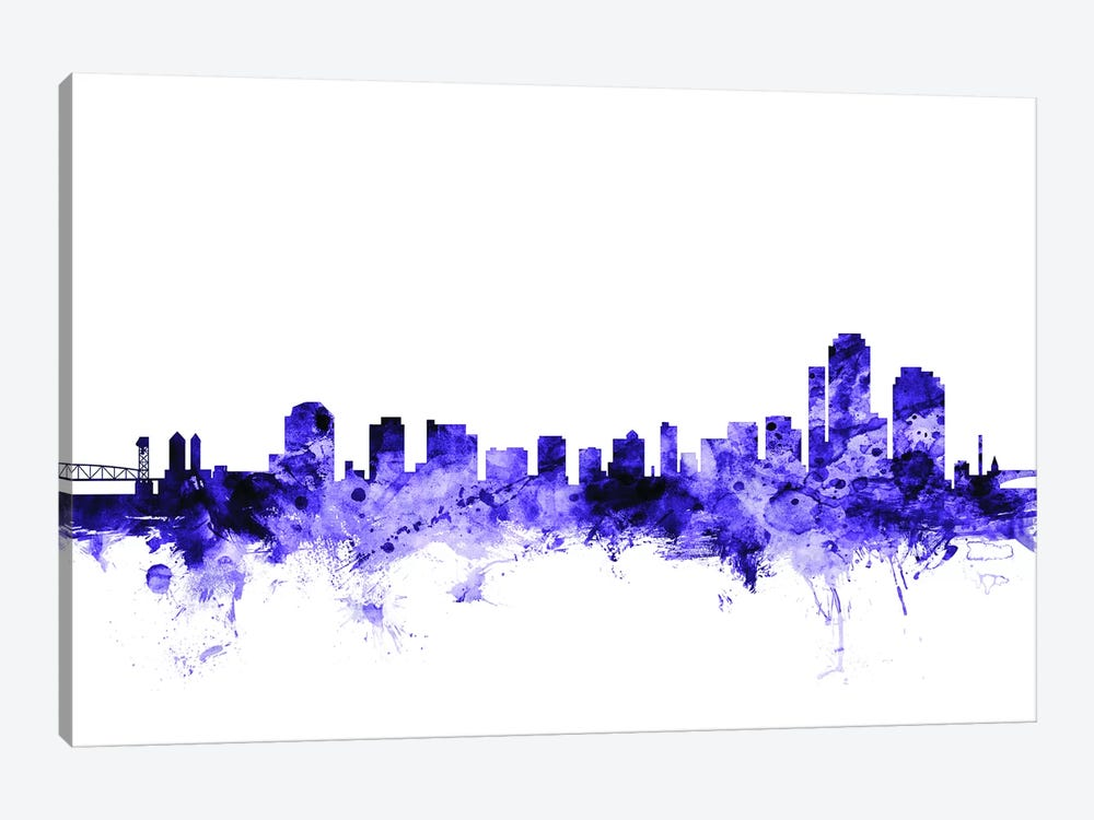 Wilmington, Delaware Skyline by Michael Tompsett 1-piece Canvas Artwork