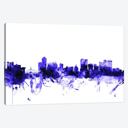 Winnipeg, Canada Skyline Canvas Print #MTO729} by Michael Tompsett Canvas Artwork