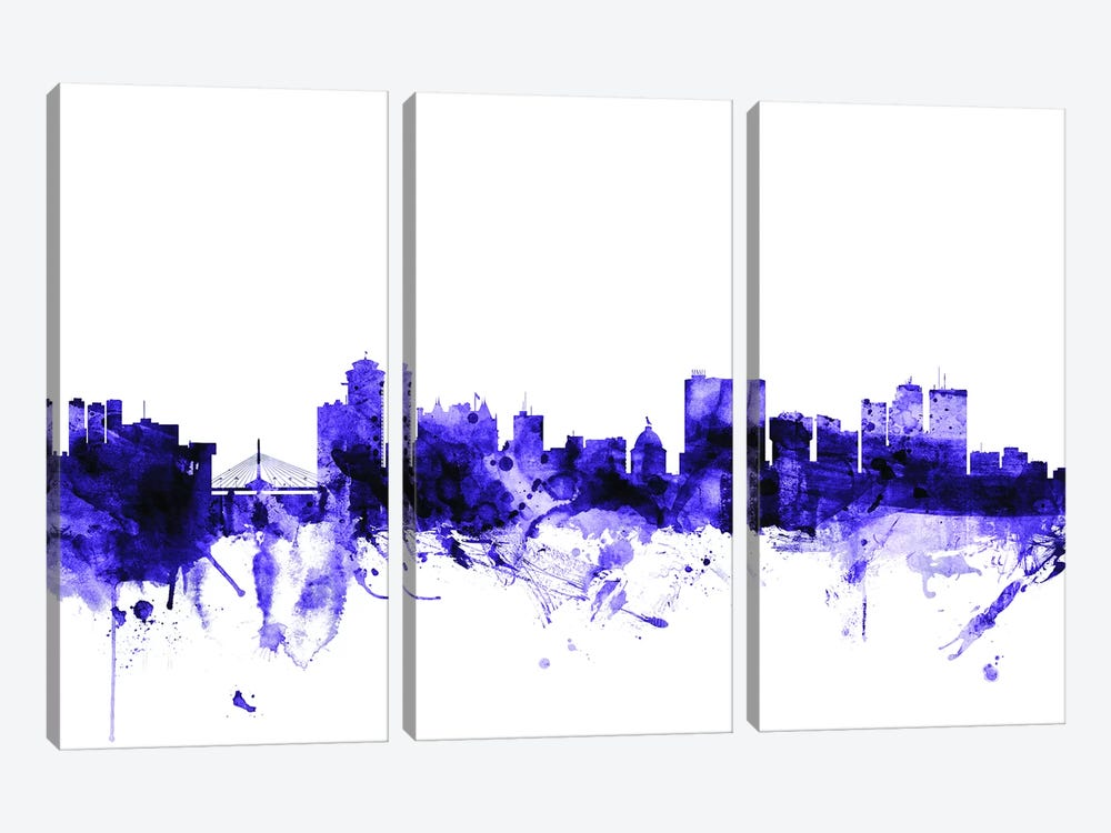 Winnipeg, Canada Skyline by Michael Tompsett 3-piece Canvas Art Print