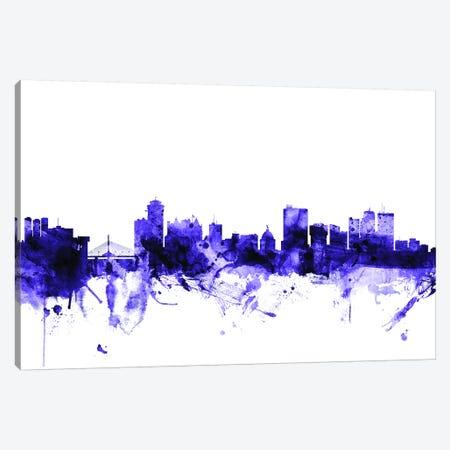 Winnipeg, Canada Skyline Canvas Print #MTO729} by Michael Tompsett Canvas Artwork