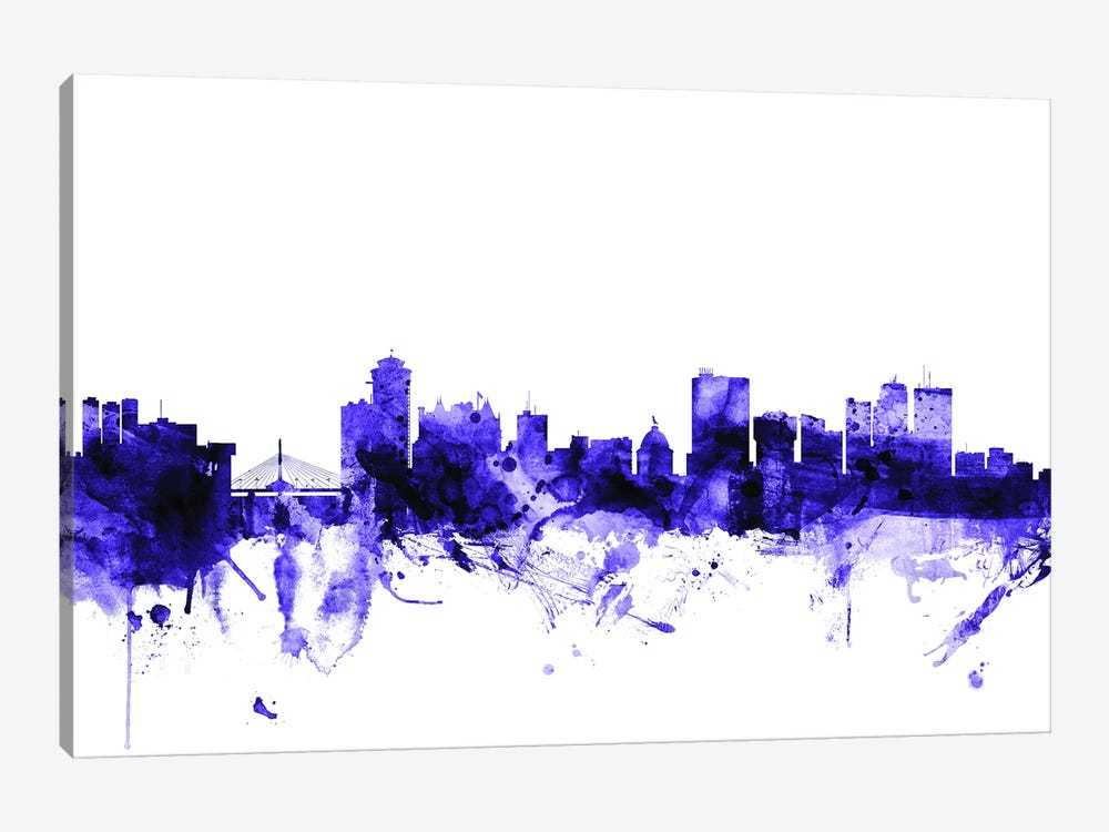Winnipeg, Canada Skyline by Michael Tompsett 1-piece Art Print