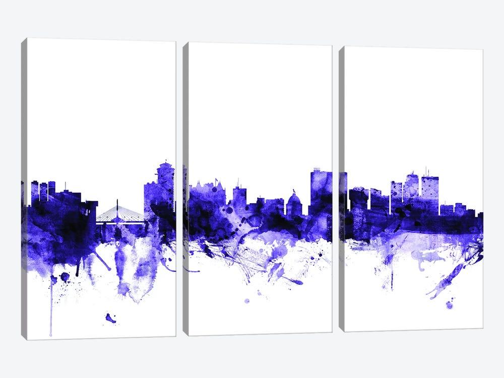 Winnipeg, Canada Skyline by Michael Tompsett 3-piece Canvas Art Print